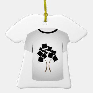 T Shirt Template- Polaroid tree Double-Sided T-Shirt Ceramic Christmas Ornament