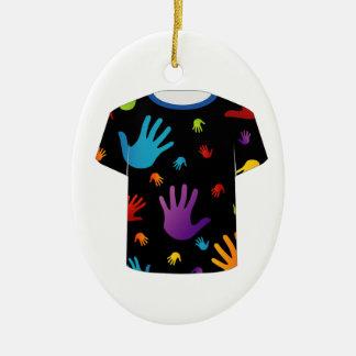 T Shirt Template- Pop art graphic Christmas Tree Ornament