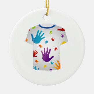 T Shirt Template- Pop art graphic Christmas Ornaments