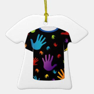 T Shirt Template- Pop art graphic Christmas Ornament
