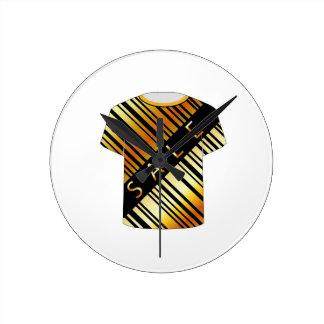 T Shirt Template- Sale bar code Round Clock