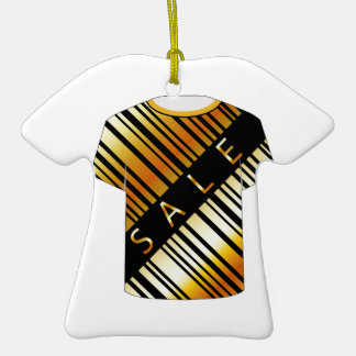 T Shirt Template- Sale bar code Double-Sided T-Shirt Ceramic Christmas Ornament