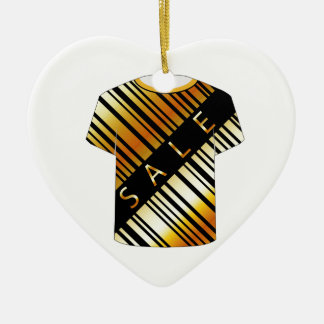 T Shirt Template- Sale bar code Double-Sided Heart Ceramic Christmas Ornament