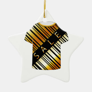 T Shirt Template- Sale bar code Double-Sided Star Ceramic Christmas Ornament