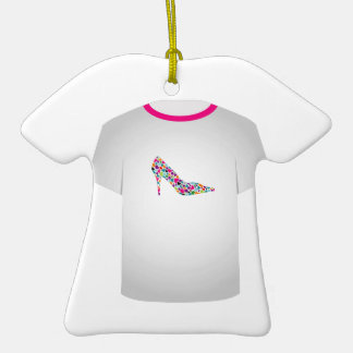 T Shirt Template-Shoe lover Double-Sided T-Shirt Ceramic Christmas Ornament