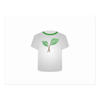 T Shirt Template- sketched seedling Postcard