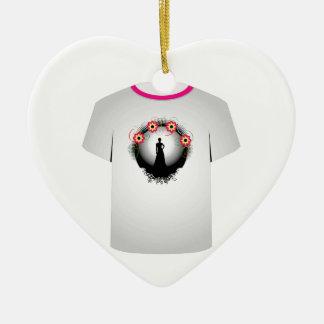 T Shirt Template- supermodel Christmas Tree Ornaments
