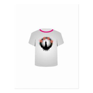 T Shirt Template- supermodel Postcard