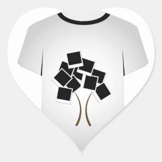 T Shirt Template- tree Heart Sticker