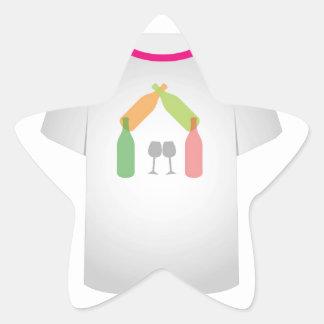 T Shirt Template- wine house Star Sticker