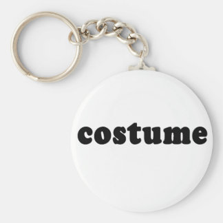 T shirt that just says COSTUME Basic Round Button Keychain