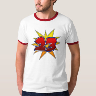 T-Shirt The Number 23 Red with Yellow Burst