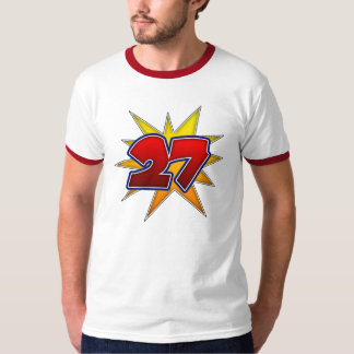 T-Shirt The Number 27 Red with Yellow Burst