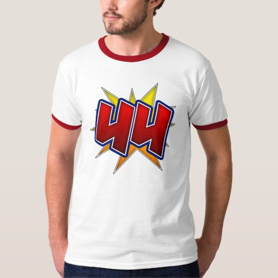 T-Shirt The Number 44 Red with Yellow Burst