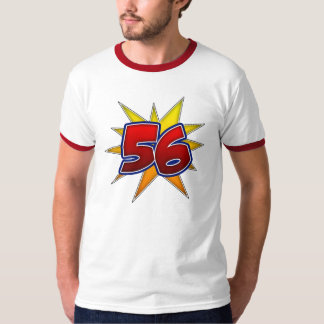 T-Shirt The Number 56 Red with Yellow Burst