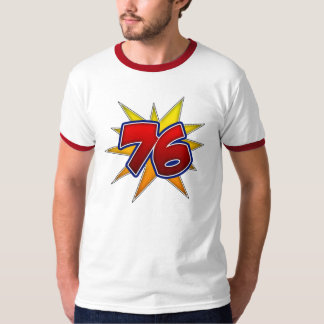 T-Shirt The Number 76 Red with Yellow Burst