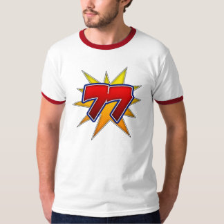 T-Shirt The Number 77 Red with Yellow Burst