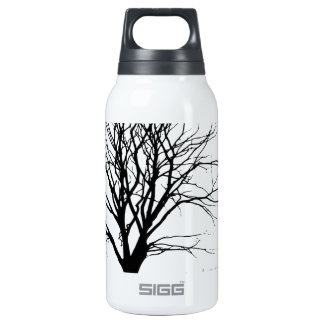 t-shirt tree silhouette winter shadow baum insulated water bottle