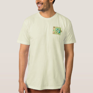 T SHIRT Tropical Fish Graphic Pocket