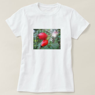 T-shirt two rosehips with sunbeam