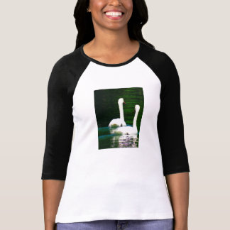 T-shirt two white swans