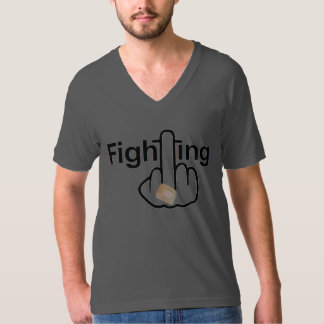 T-Shirt V-Neck Fighting Flip