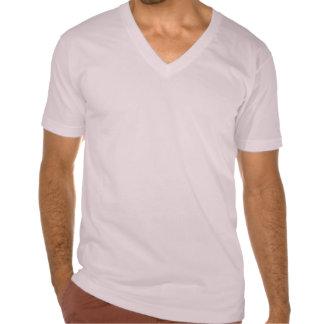 T-Shirt V-Neck Oil Flip