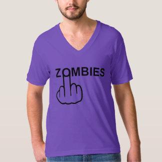 T-Shirt V-Neck Zombies Flip