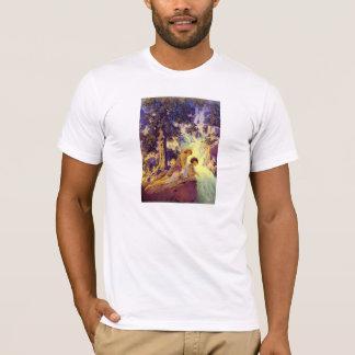 T-Shirt:  Waterfall - by Maxfield Parrish T-Shirt