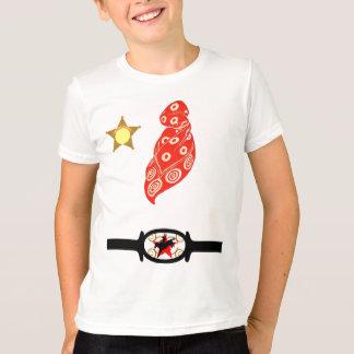 T-Shirt Western Fun Faux Bandana badge belt buckle