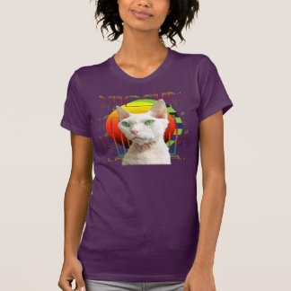 T-Shirt | White Cat Casper Purple