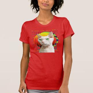 T-Shirt | White Cat Casper red