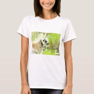 T- Shirt -White Womens-Lemur-Ring Tailed