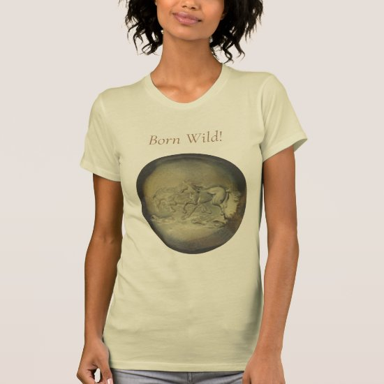 T-shirt - Wild Horses in Yellow