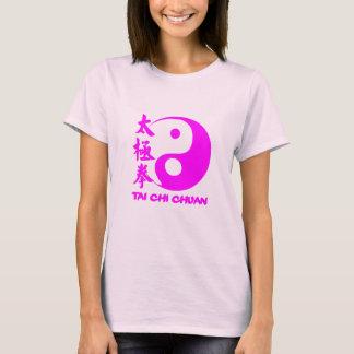 T-shirt will be training Tai Chi Chuan pink