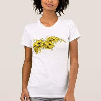 T-shirt with a modern flower decor