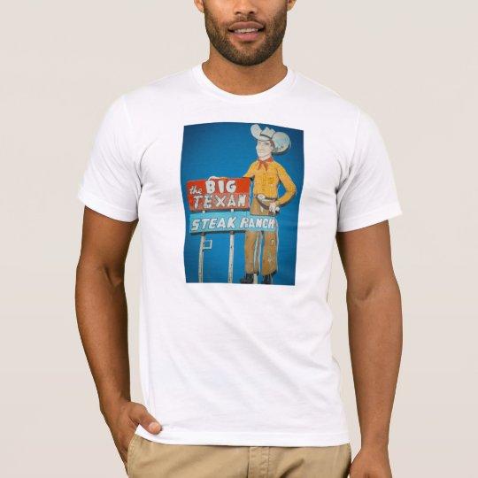 t-shirt with Big Texan neon sign