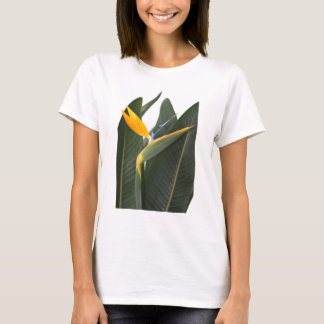 T-Shirt with Bird of Paradise Flower