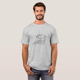 T-shirt with Black Vintage Typewriter Sketch