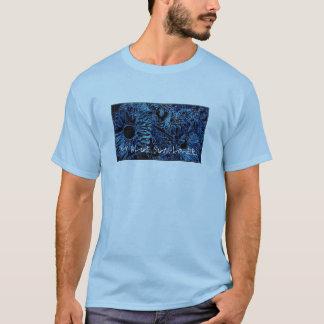 T-shirt with Blue Sunflower Design