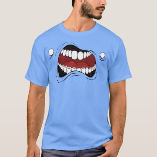 "T-shirt with cartoon mouth: ""monster mouth"""