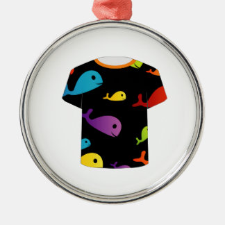 T Shirt with colorful fishes Christmas Tree Ornaments