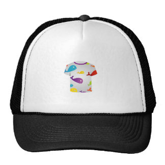 T Shirt  with colorful fishes Trucker Hat