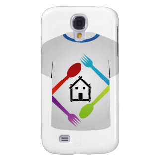 T Shirt with colorful spoons and forks Galaxy S4 Case