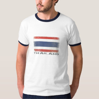 T-shirt with Distressed Thailand Flag