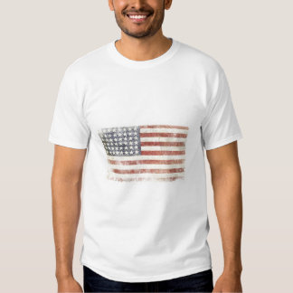 T-shirt with Distressed USA Flag