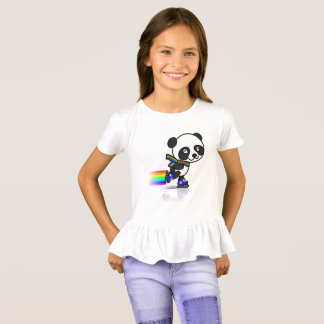 T-shirt with dribbled childish feminine Pandinha