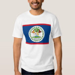 T Shirt with Flag of Belize