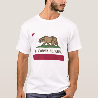 T Shirt with Flag of California State USA