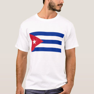 T Shirt with Flag of Cuba